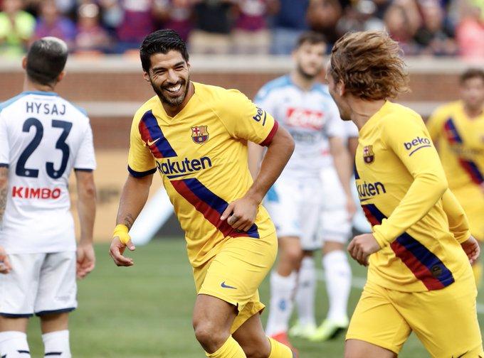 Ujicoba Pramusim, Barcelona Gulung Napoli 4 gol Tanpa Balas